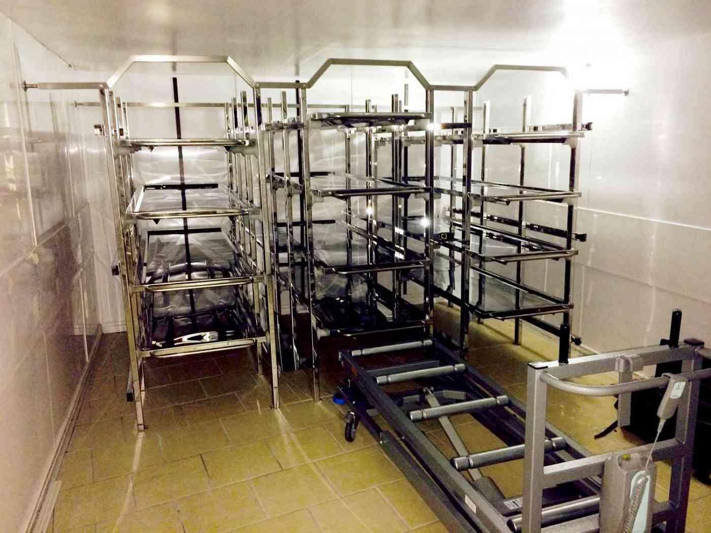 Body Racking System, Autopsy, Mortuary, Post Mortem, Funeral Equipment WJ Kenyon