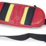 Shoulder belt with bag.